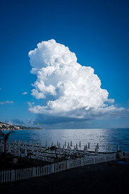 Storm Cloud Over the French Riviera