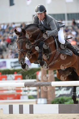 Ludger BEERBAUM ,(GER), CHAMAN during Longines Cup of the City of Barcelona competition at CSIO5* Barcelona at Real Club de Polo, Barcelona - Spain