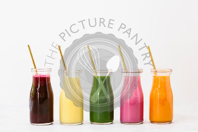 Fresh colorful smoothies