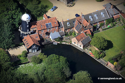 aerial photograph of Burnham Overy Union Mill Norfolk UK