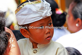 Young boy at ceremony