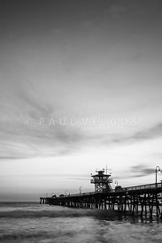 San Clemente Pier Black and White Picture