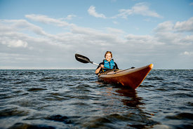 Nordic woman kayaking 2