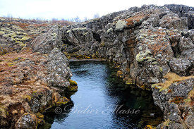 Lave au Parc national de Thingvellir Islande 05/16