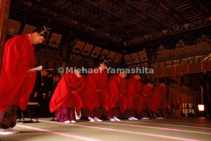 A Shinto rite takes place at Nikko.
