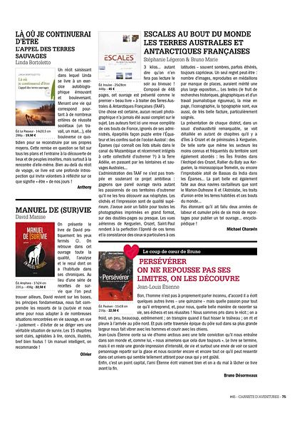 Magazine Carnets d'aventures #45, page 75 - Sept. 2016