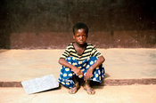 Ghana - Tamale - A street child who works in the main market in Tamale
