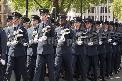 RAF Airmen Marching in London on VE70 Day