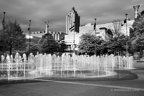 CENTENNIAL OLYMPIC PARK ATLANTA GEORGIA BLACK AND WHITE