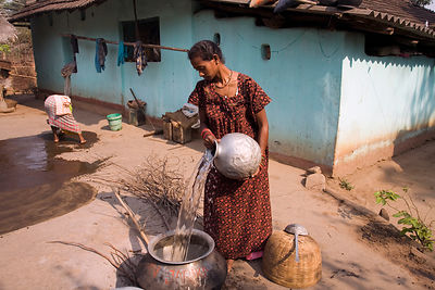 India - Orissa - Women working in Chandia Village