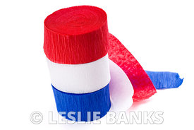 Red White and Blue Crepe Paper