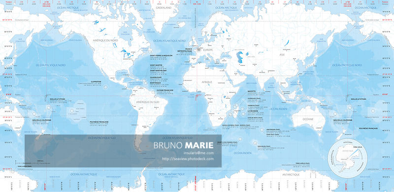 French Territories - Maps of Overseas French Territories - © Bruno MARIE - All rights reserved.