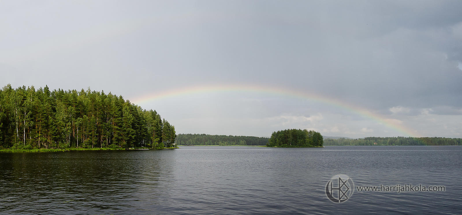 Finland - Jamsankoski (Rainbow Over A Lake I)