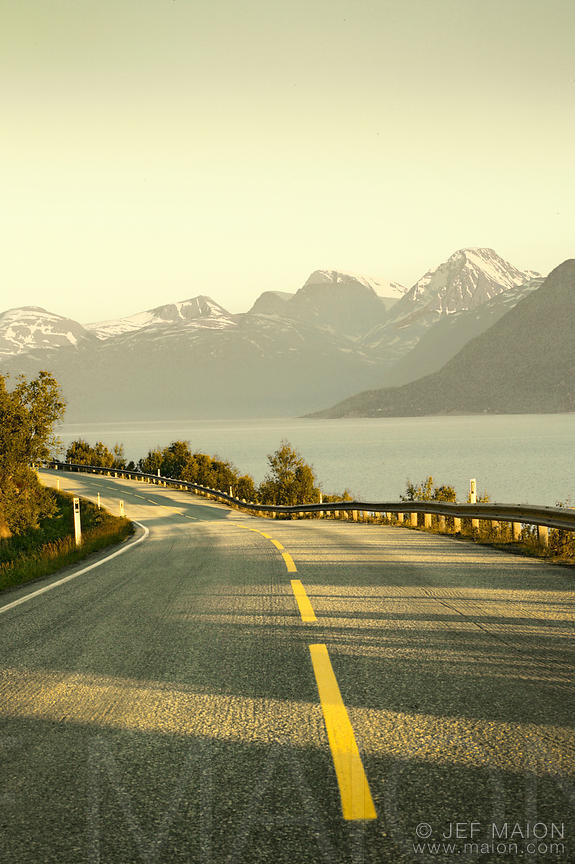 Road, sea and mountains