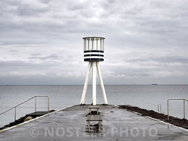 An Arne Jacobsen lifeguard tower