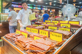 Beef or pork meat Jerky delicacies in Macau