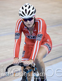 Junior Women Omnium Points Race. Milton International Challenge, Mattamy National Cycling Centre, Milton, On, October 1, 2016