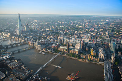 Aerial view of Southwark, London