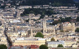 Bath from Beecham Cliff, UK