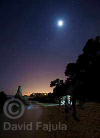 Night photography workshop at La Roca del Paller creek (Cala de la Roca del Paller)