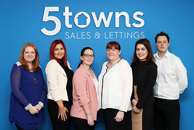 Five Towns lettings opening new branch in Castleford..from left - Rebecca Reeder, Natasha Plevey, Amie Brooke, Vicki McMillan, Claudia Korko, Mark Wheeldon