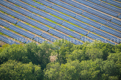Aerial view of Solar Farm, Chediston, Suffolk