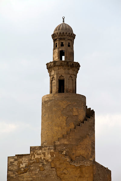 Egypt - Cairo - The minaret of the Ibn Tulun Mosque