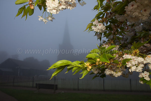 Tarring Church In The Fog
