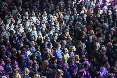 Marillion fans having fun at the Leicester weekend, 2017