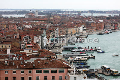 Riva Degli Schiavoni from the west, Venice, Italy