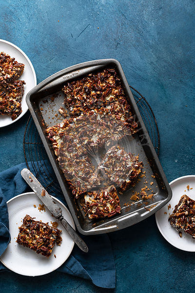 Chocolate coconut layer bars.