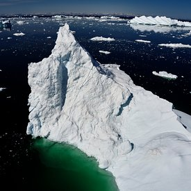 Greenland Icebergs aerial pictures