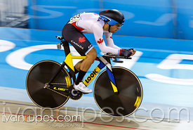Rémi Pelletier-Roy at Men's Omnium Individual Pursuit, Track Day 1, Toronto 2015 Pan Am Games, Milton Pan Am/Parapan Am Velodrome, Milton, On; July 16, 2015