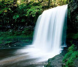 sgwd yr eira waterfall river hepste pontneddfechan brecon beacons national park wales