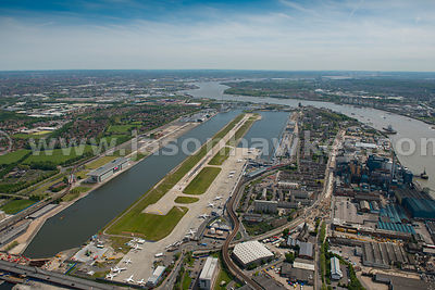 Aerial view of London City Airport, Newham