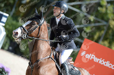 Niklaus RUTSCHI ,(SUI), WINDSOR XV during Coca-Cola Trofey competition at CSIO5* Barcelona at Real Club de Polo, Barcelona - Spain
