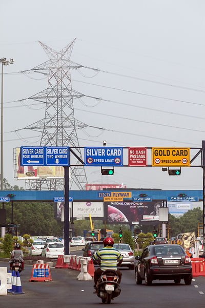 India - New Delhi - Signage on the private Noida Expressway and Toll Road