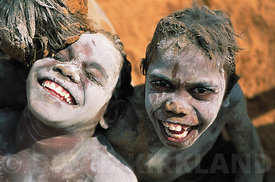 Young kids playiong. Arnhemland, Northern Territory