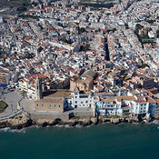 Sitges aerial photos