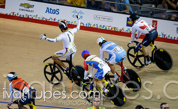 Men's Keirin Final. Track Day 4, Toronto 2015 Pan Am Games, Milton Pan Am/Parapan Am Velodrome, Milton, On; July 19, 2015