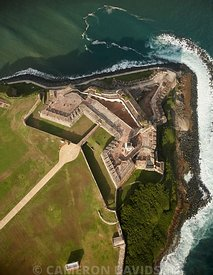 Aerial Photograph of El Morro Fort in Old San Juan, Puerto Rico