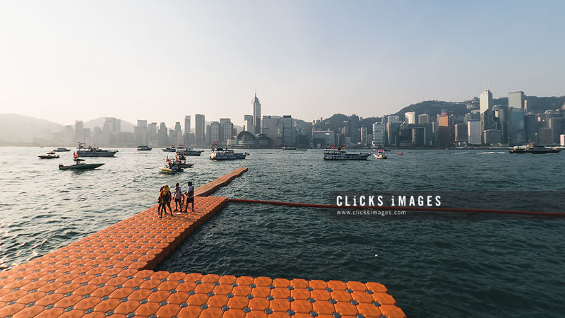 新世界維港泳 New World Harbour Race at Victoria Harbour on  October 29, 2017 in Hong Kong