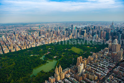 Aerial view of Central Park, a public park in the heart of Manhattan