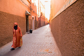 A street scene In Marrakesh, Morocco