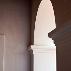 Details of a restored French Colonial House. Pondicherry, India