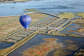 Hot Air Balloon Above The Gulf Of Morbihan, Saint Armel