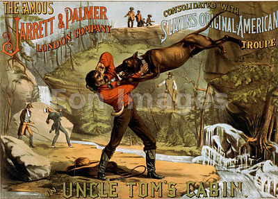 Theatre flyer for show of Uncle Tom's Cabin
