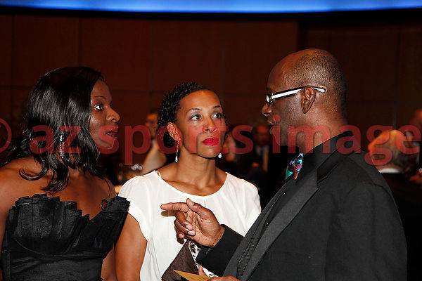 Amantle Montsho and Bob Beamon at the IAAF Gala Monaco - Athlete of the year event.
