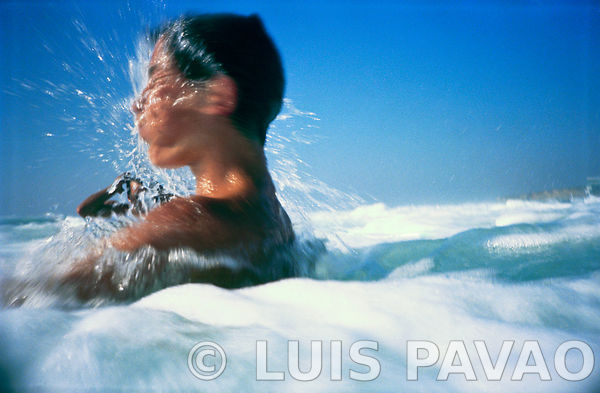 Diving at Praia Grande - 1988 photos