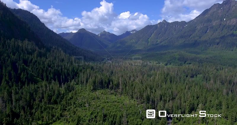 Aerial view of the Stillaguamish Valley in the Cascade Mountains Washington State